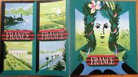 France/French Post-WWII Travel Advertising Brochure/Magazine/Booklet & Map