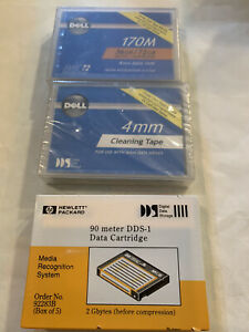 Dell 170M 4mm Data Tape + 4MM Cleaning Tape & Data Cartridge NEW