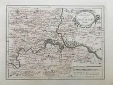 1791 Antique map: Environs of London. Von Reilly