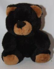A&A Black Bear Plush 6 inch Sitting Stuffed Animal