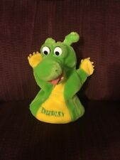 VINTAGE THE ADVENTURES OF DUDLEY PLUSH GREEN DRAGON TALES PUPPET TOY DOLL FIGURE