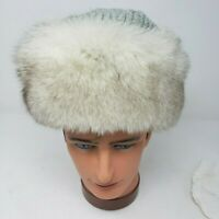 Vintage Fur Hat with Crochet Top from Fashion Furs Inc (Small)