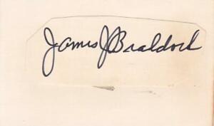 JAMES J. BRADDOCK d 1974 Signed 1X4 Cut of Paper Boxer JSA Z71247*