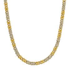 Damenkette Gelb- / Weißgold 750 / 28,7 g , Fantasiemuster , Länge 50 cm