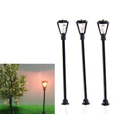 10pcs Model Garden Lamps HO Scale 1:100 Black Layout Garden Lights Model FT