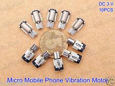 10PCS Micro Mini Coreless Vibrator Vibration Motor DC 3V 4*8MM for Mobile Phone