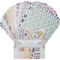 12X Floral Paper Pad Origami Scrapbooking Planner Card Album Journal DIY Craft