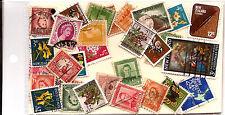 Nlle ZELANDE :Pochette 30 timbres oblitérés TOUS DIFFERENTS bon etat K30/2