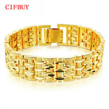 Cifbuy Gold Color Bracelet Bangle Men Women Luxury Wed Jewelry Chunky Link Chain
