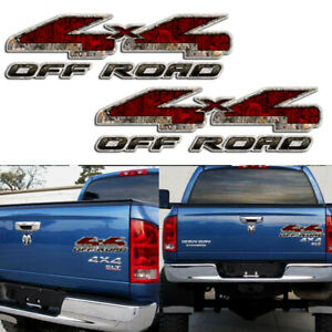 Tailgate 4X4 OFF ROAD Rear Decal Car Truck For Dodge Ram 1500 2500 Red Sticker