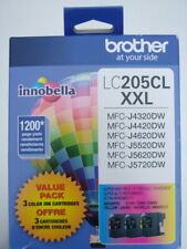 Brother Ink LC 205 CL XXL Cyan Magenta Yellow Extra High Capacity