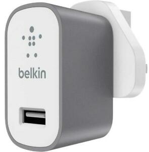 Belkin Mixit Universal 2.4A 12W UK USB Phone / Tablet Mains Charger Space Grey
