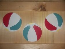 NEW Darice Finished WOODEN  BEACH BALL ~ 3