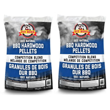 (2 pack) Pit Boss BBQ Wood Pellets Competition Blend, 40 lbs/pack Natural Wood