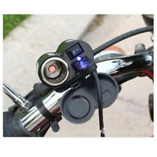 12V Motorrad Zigarettenanzünder 2 USB Steckdose Ladegerät Switch Wasserdicht Kit
