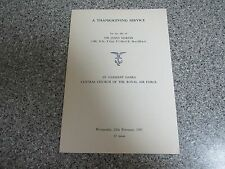 AUTHENTIC A THANKSGIVING SERVICE SIR JAMES MARTIN MEMORIAL SERVICE PAMPHLET
