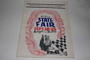 Midget Car Auto Racing Program, New Jersey State Fair, 1960