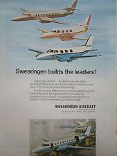 7/1970 PUB SWEARINGEN AIRCRAFT SAN ANTONIO TEXAS MERLIN METRO ORIGINAL AD
