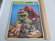 Vintage 1983 Sesame Street Frame Tray Puzzle Oscar the Grouch Favorite Things