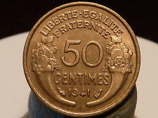 BOIS5(23) - 50 CENTIMES - MORLON - 1941 - QUALITE SUP+ à SPL !