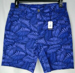 Johnnie-O High Tide Printed Short in BLUES 97% Cotton MSRP $98 NWT COOL! - 36