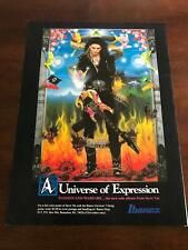 1990 Vintage 8X11 Print Ad For Ibanez Guitars With Steve Vai Passion And Warfare