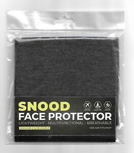 Charcoal Snood Face Protector (Buy 1, 2 Or 3) - Washable & Reusable