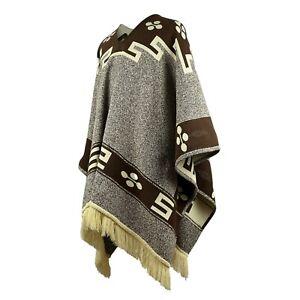 Back to the Future inspired Cowboy Poncho Serape replica handmade of Alpaca wool