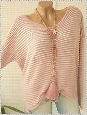 38 40 42 42/44  oversize Pullover mit dezenter Struktur v neck strickpullover