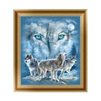 5D Wolf Diamond Embroidery Painting Cross Stitch DIY Art Craft Wall Home Decor