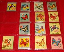 14 Vintage Matchbooks w/ Butterflies Theme - 1955-57 Ohio Match Co. / Butterfly