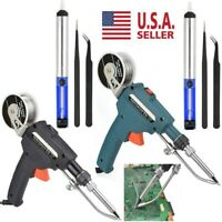 110V Manual Soldering Gun Electric Iron Automatic Soldering Machine Kit Tool US