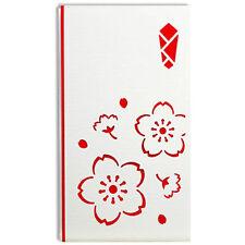 Japanese Laser-Cut Sakura Money Envelope w/ 6 Greeting Stickers, Made in Japan