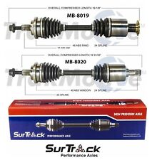 For Mercedes C240 C280 4Matic AWD Pair of Front CV Axle Shafts SurTrack Set