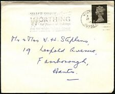 GB 1967 Select Sunny Worthing For Home On Holidays Slogan Cover #C44354