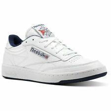 Sneaker Reebok Club C 85 Archive in Pelle BIANCA E Dettagli Blu 8