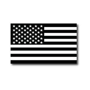 Black and White American Flag Car Magnet Decal - 3 x 5 Heavy Duty for Car Truck