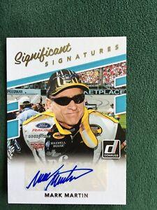 2018 Donruss Racing Mark Martin Significant Signatures autograph