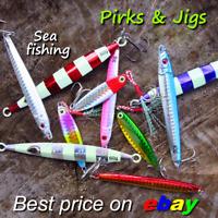 Sea fishing Vertical Slow jigs pirks baits mackerel pollack bass lures luminous