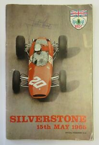 Silverstone Official Programme 15th May 1965 SIGNED by Jackie Stewart