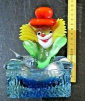 POSACENERE CLOWN SU POLTRONA in vetro di MURANO multicolore originale anni 50