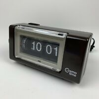 VTG Cosmo Time Corp Lighted Flip Alarm Clock Model F-101 Illuminated Electric