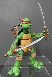 Authentic! NECA Mirage Original Comic Book TMNT Red Leonardo Swords Turtles 2008