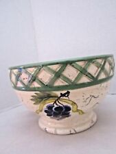 "Raymond Waites cornicopia grape cluster bowl. porcelain. 6"" x 4""."