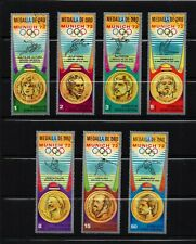 EQUATORIAL GUINEA, MICHEL #163-169, USED SET OF 7 GOLD MEDAL WINNERS OF OLYMPICS