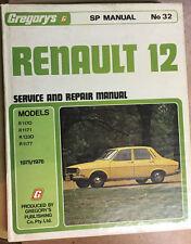 RENAULT 12 Service & Repair Manual Gregory's No 32