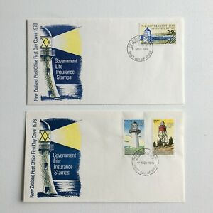 MNZFD91) New Zealand 1976/78 Government Life First Day Covers FDC Souvenir Cover