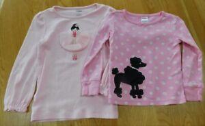 Girls GYMBOREE Lot of 2 Long Sleeved Tops~Poodle/Ballet Size 3