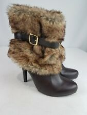 FOREVER 21 Boots Size 8 Ankle Boots Faux Fur fox brown