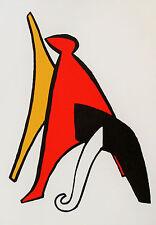 1966 Calder maeght 11x15 original lithograph popies rare  paris france